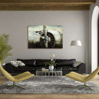 """32 in. X 48 in. """"FlyAway"""" Mixed Media Iron Hand Painted Dimensional Wall Art"""