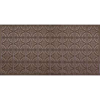 Dimensions Faux 2 ft. x 4 ft. Tin Style Ceiling and Wall Tiles in Bronze