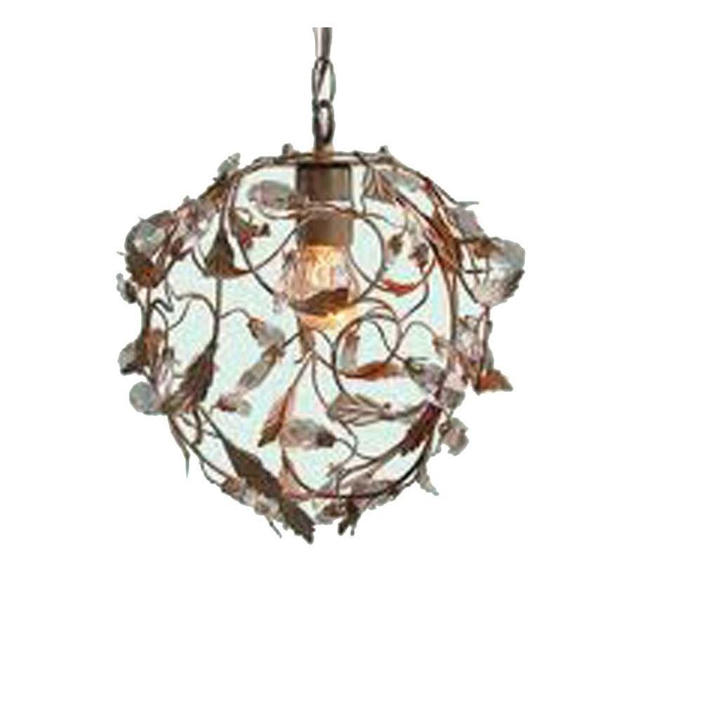 Filament Design Xavier 1-Light Brown Incandescent Ceiling Pendant