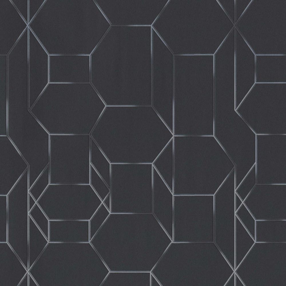 Black Modern Dimensional Chain Link
