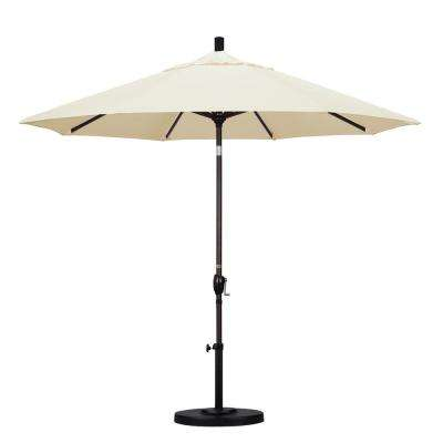 9 ft. Aluminum Push Tilt Patio Umbrella in Canvas Pacifica