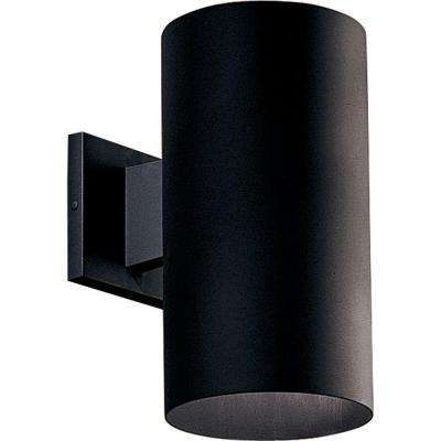 1-Light Black 12 in. Outdoor Wall Lantern