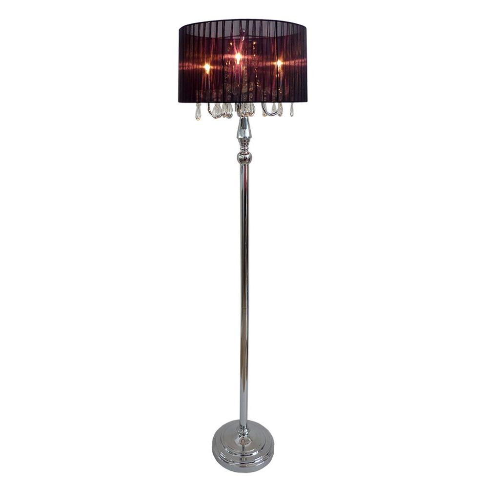Elegant designs crystal palace 615 in trendy romantic black sheer elegant designs crystal palace 615 in trendy romantic black sheer shade chrome floor lamp with aloadofball Images