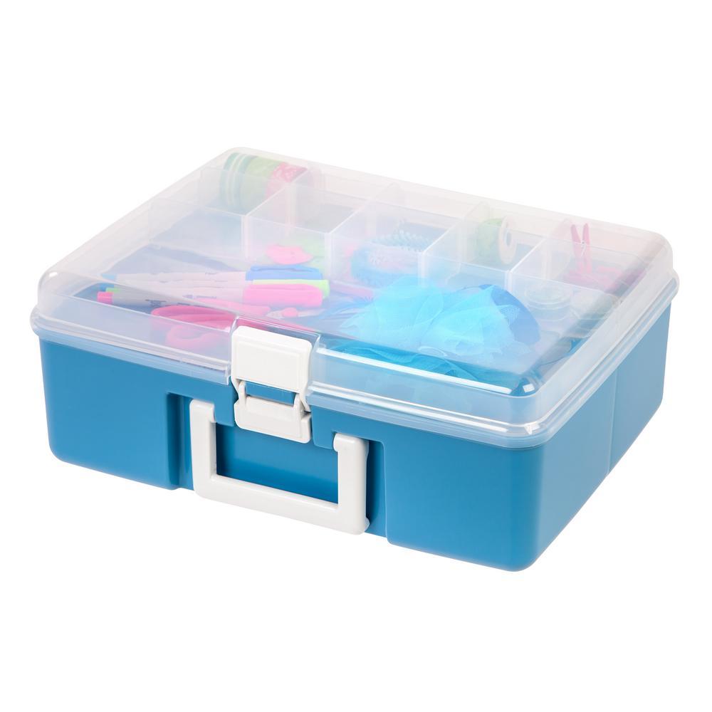 Blue Craft Storage Storage Organization The Home Depot