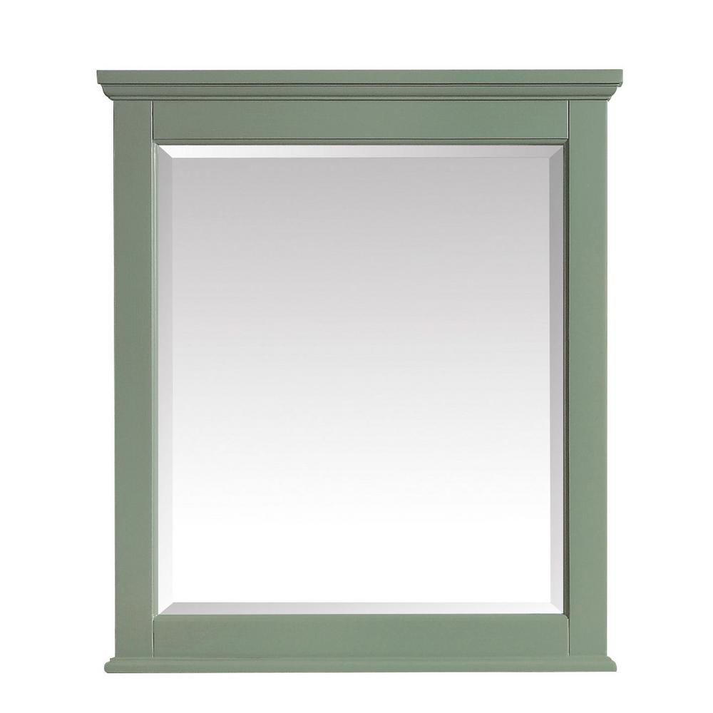 Colton 28 in. x 32 in. Framed Wall Mirror in Basil