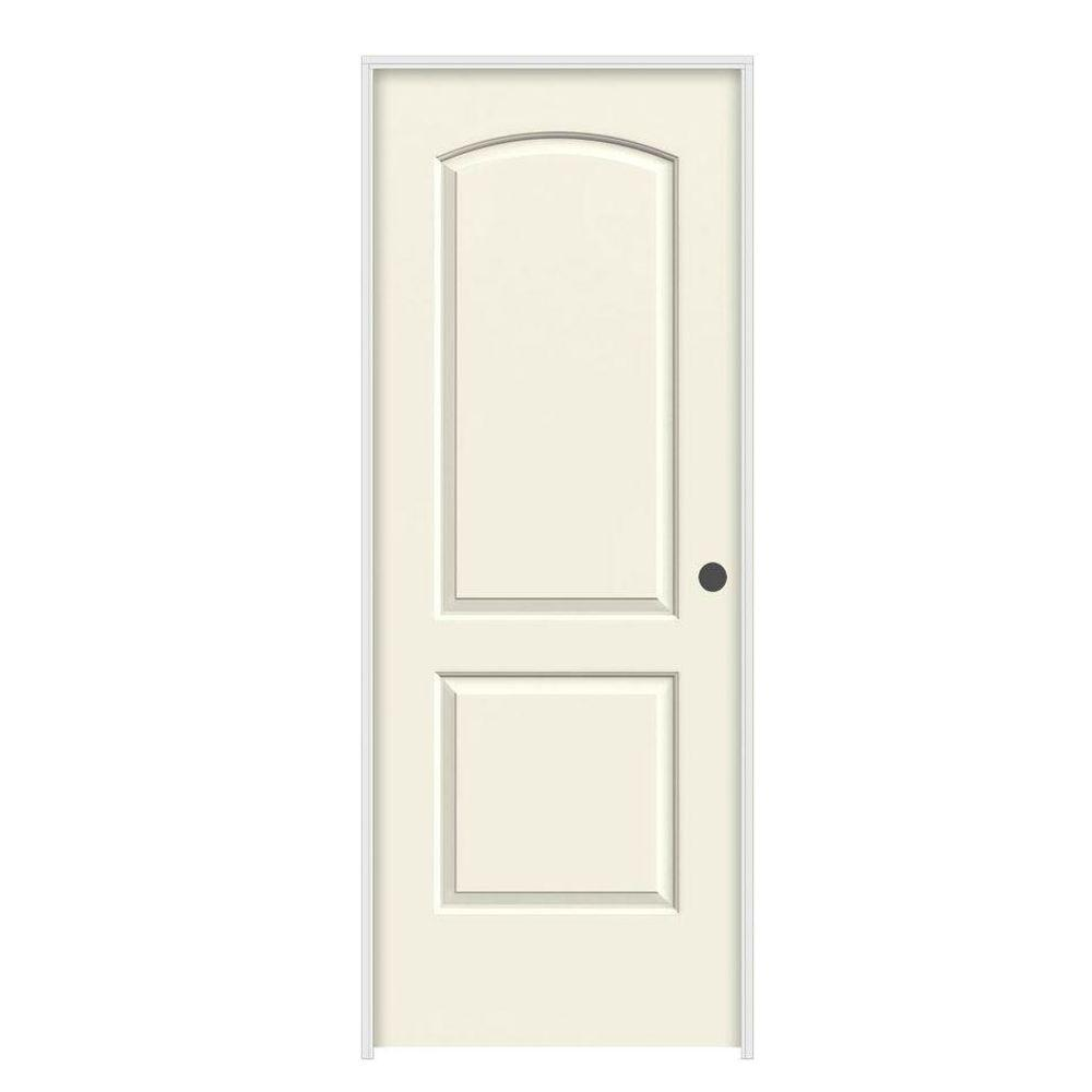 30 in. x 80 in. Continental Vanilla Painted Left-Hand Smooth Molded