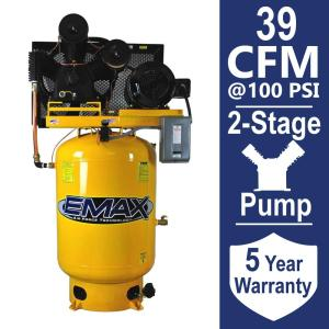 EMAX Industrial PLUS Series 120 Gal. 10 HP 3-Phase 2-Stage Electric Air Compressor by EMAX