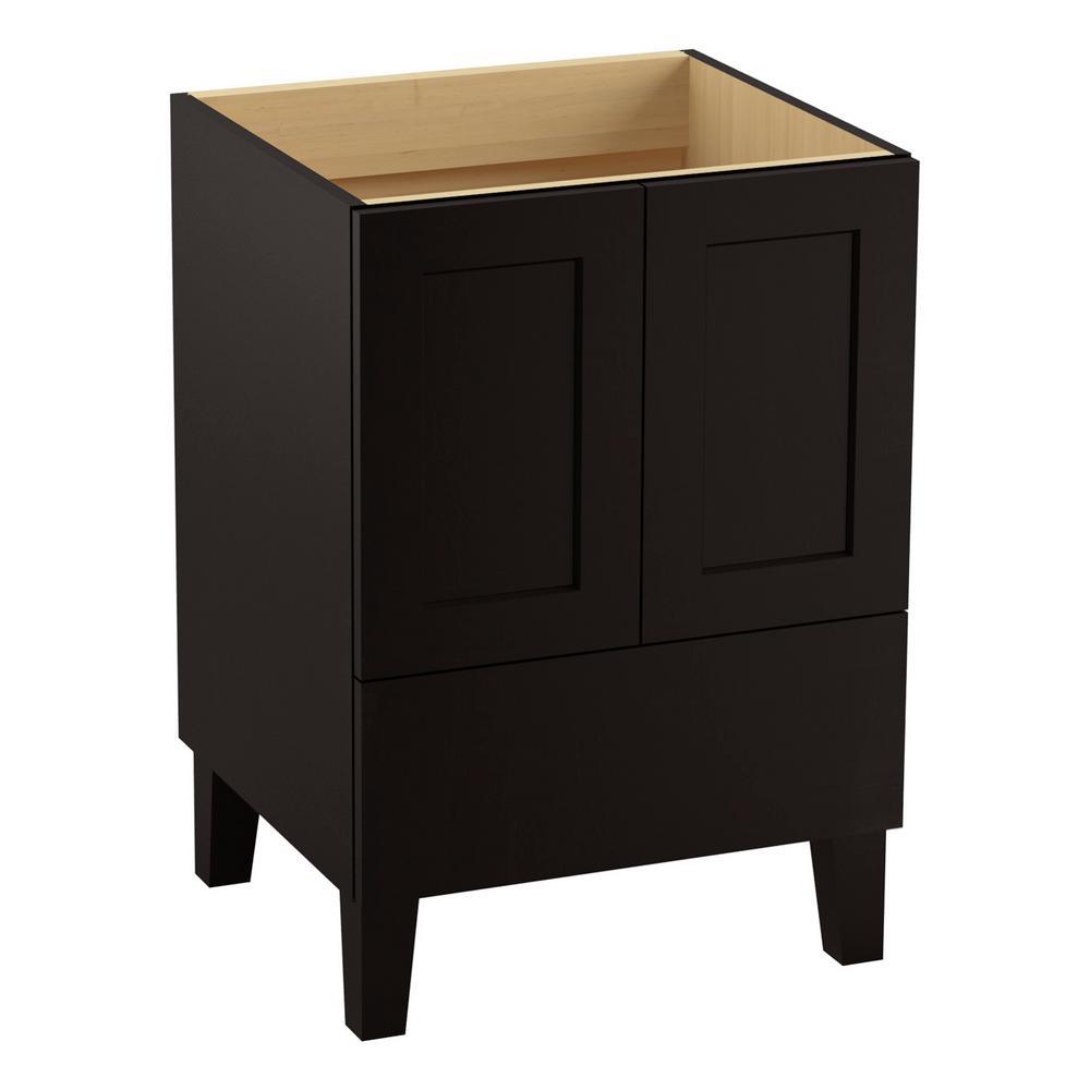 Poplin 24 in. Vanity Cabinet Only in Batiste Black