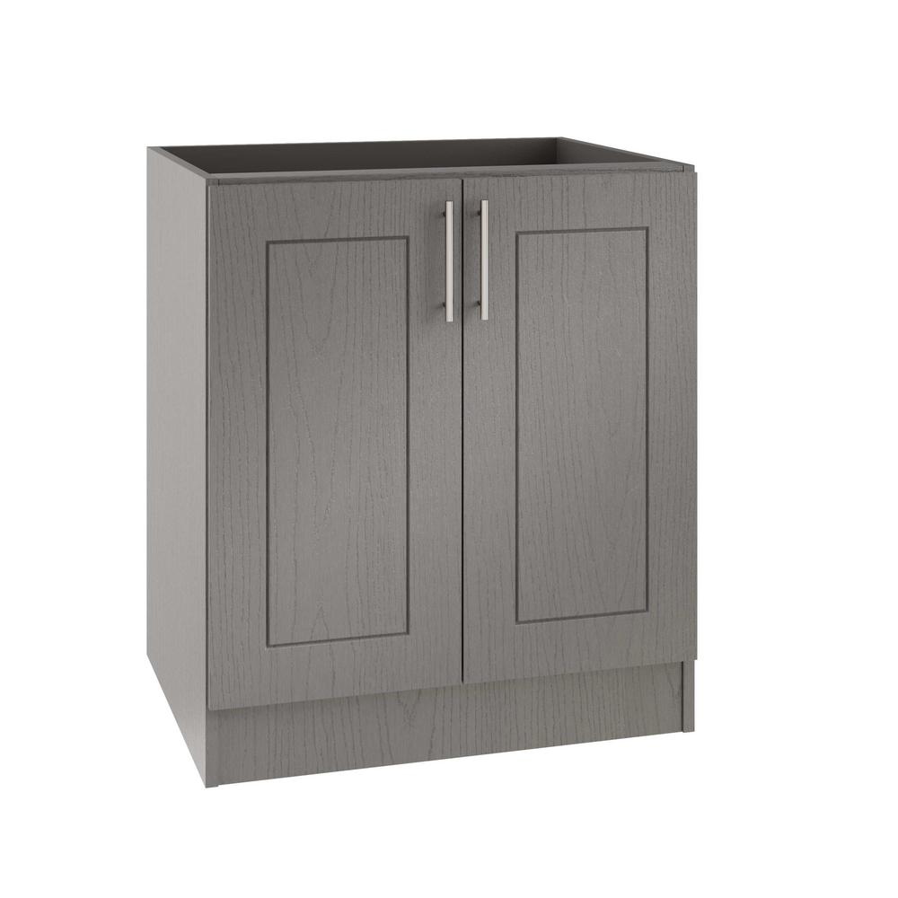 Weatherstrong Assembled In Palm Beach Open Back Outdoor Kitchen Base Cabinet With 2