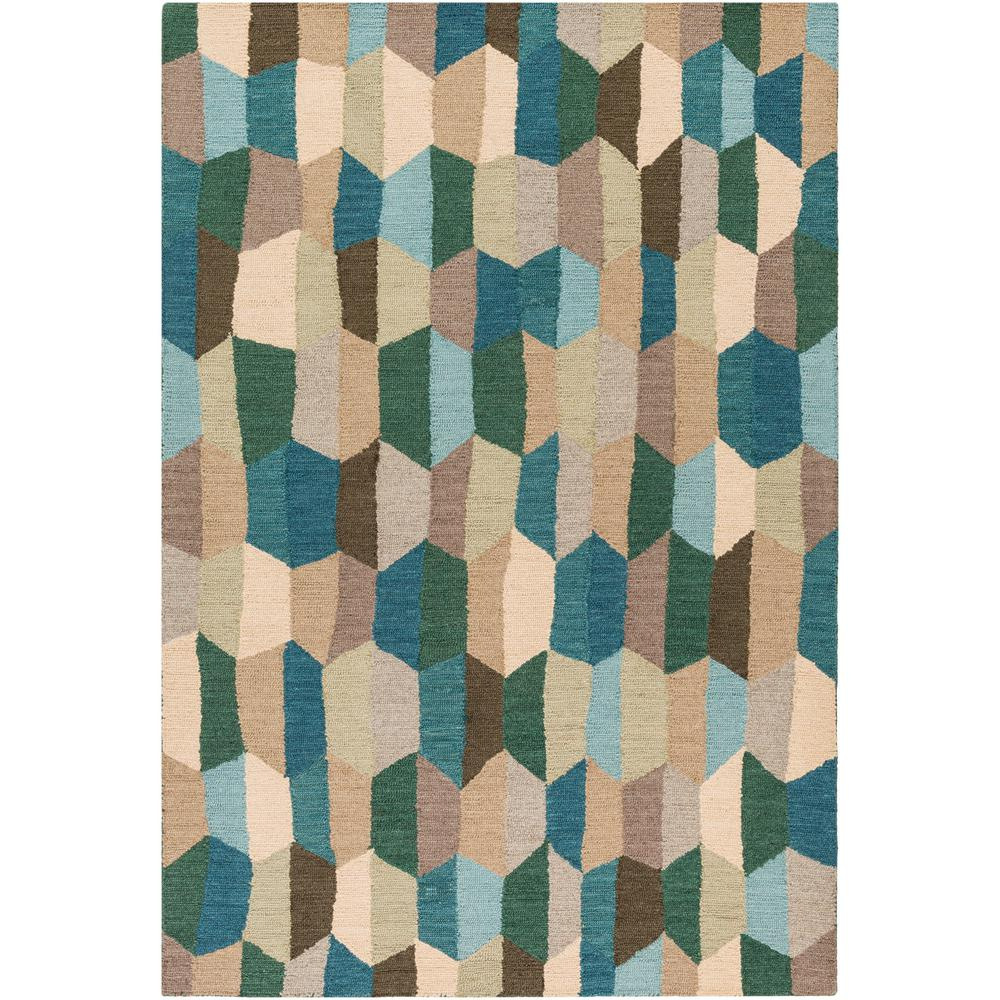 Giovanna Teal 8 ft. x 10 ft. Area Rug