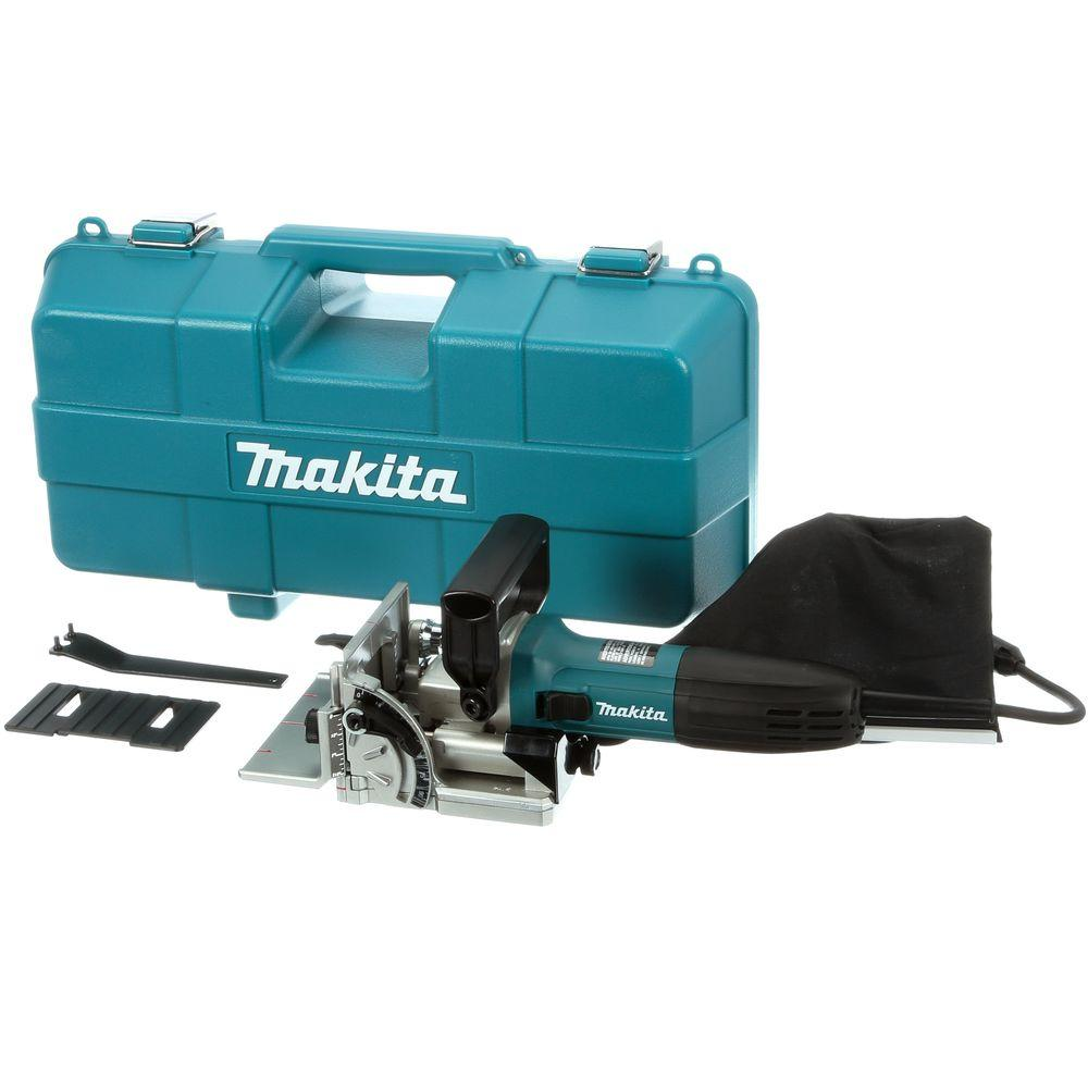 6 Amp Corded Plate Joiner with Dust Bag and Tool Case