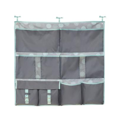 Back to School 1 in. D x 30 in. W x 28 in. H Mint Polyester Over-the-Bed Hanging Organizer