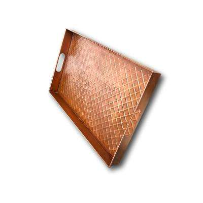 Copper 24 in. x 14 in. Metal Multi-Purpose Diamond Boot Tray