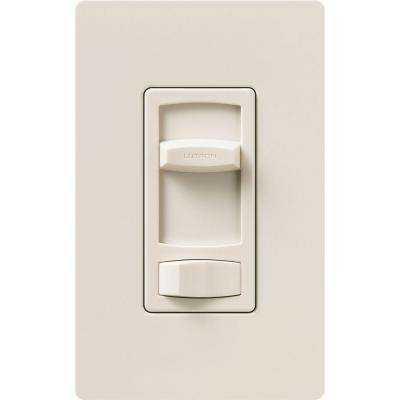 Skylark Contour 1.5 Amp Single-Pole/3-Way Quiet 3-Speed Slide-to-Off Fan Control - Light Almond