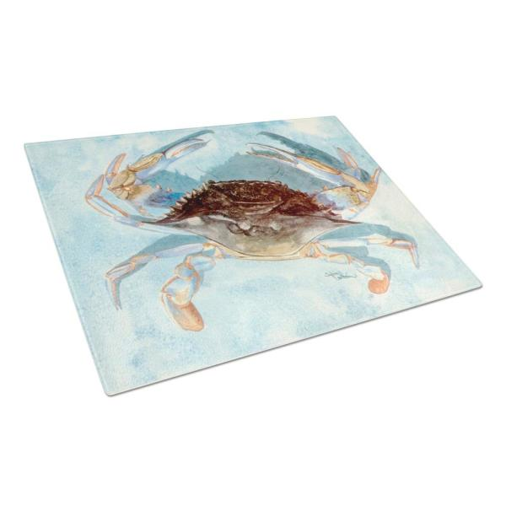 Caroline's Treasures Blue Crab Tempered Glass Cutting Board 8011LCB