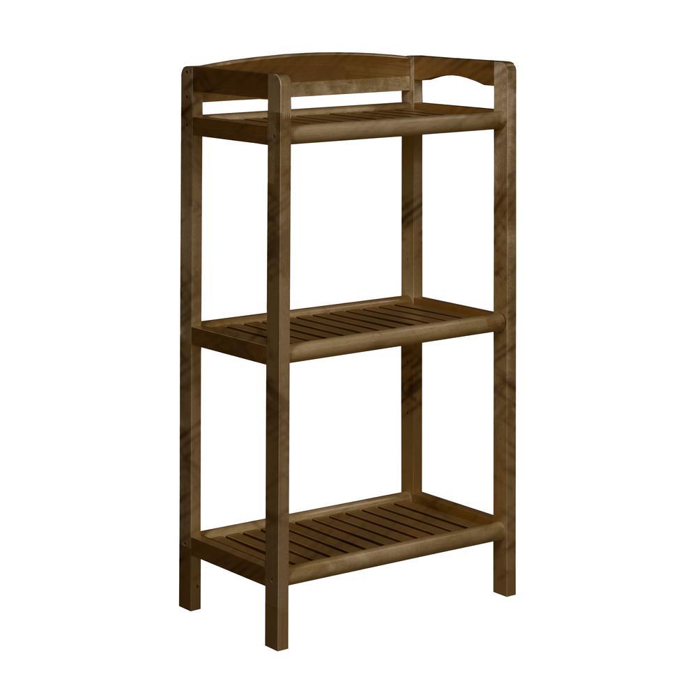 New Ridge Home Goods Abingdon Antique Chestnut Media Bookcase 2281-CHS