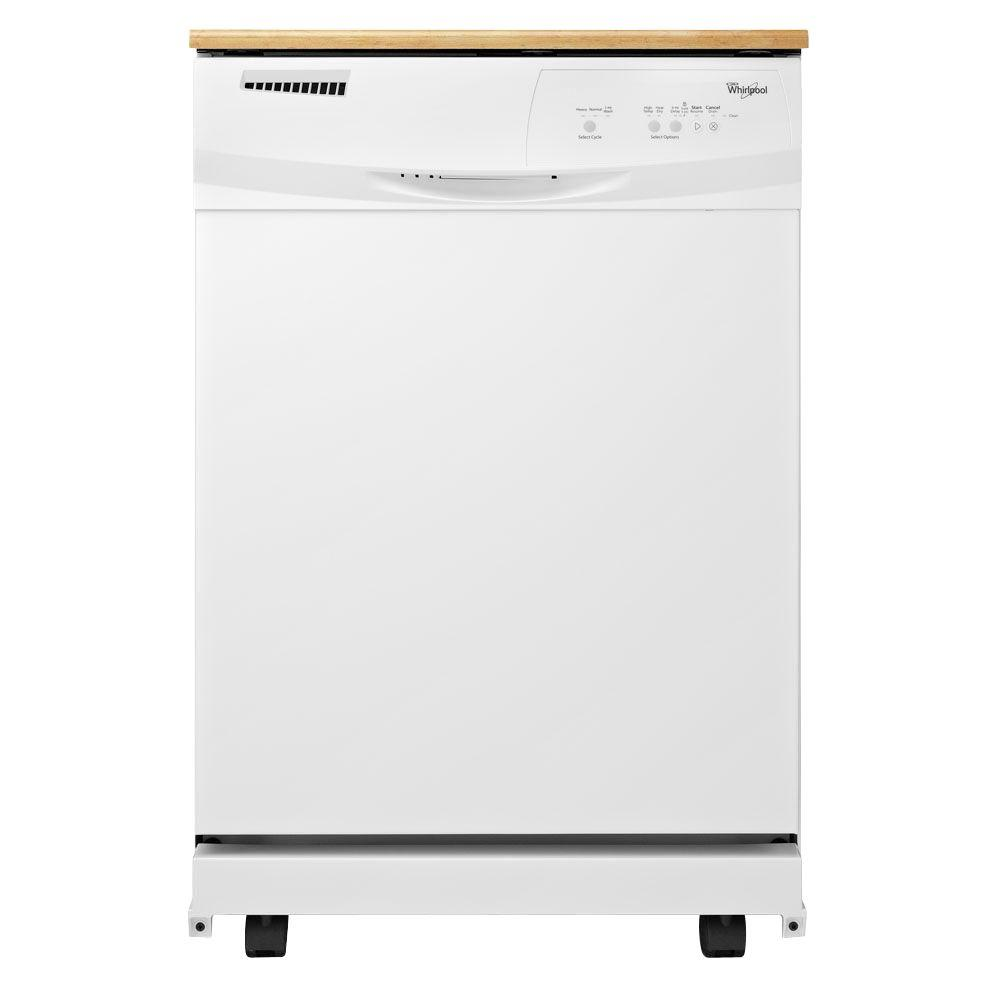 Whirlpool Convertible Portable Tall Tub Dishwasher in White