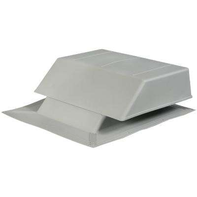 150 sq. in. NFA Plastic Slant-Back Roof Louver Static Vent in Gray (Sold in Carton of 2 only)