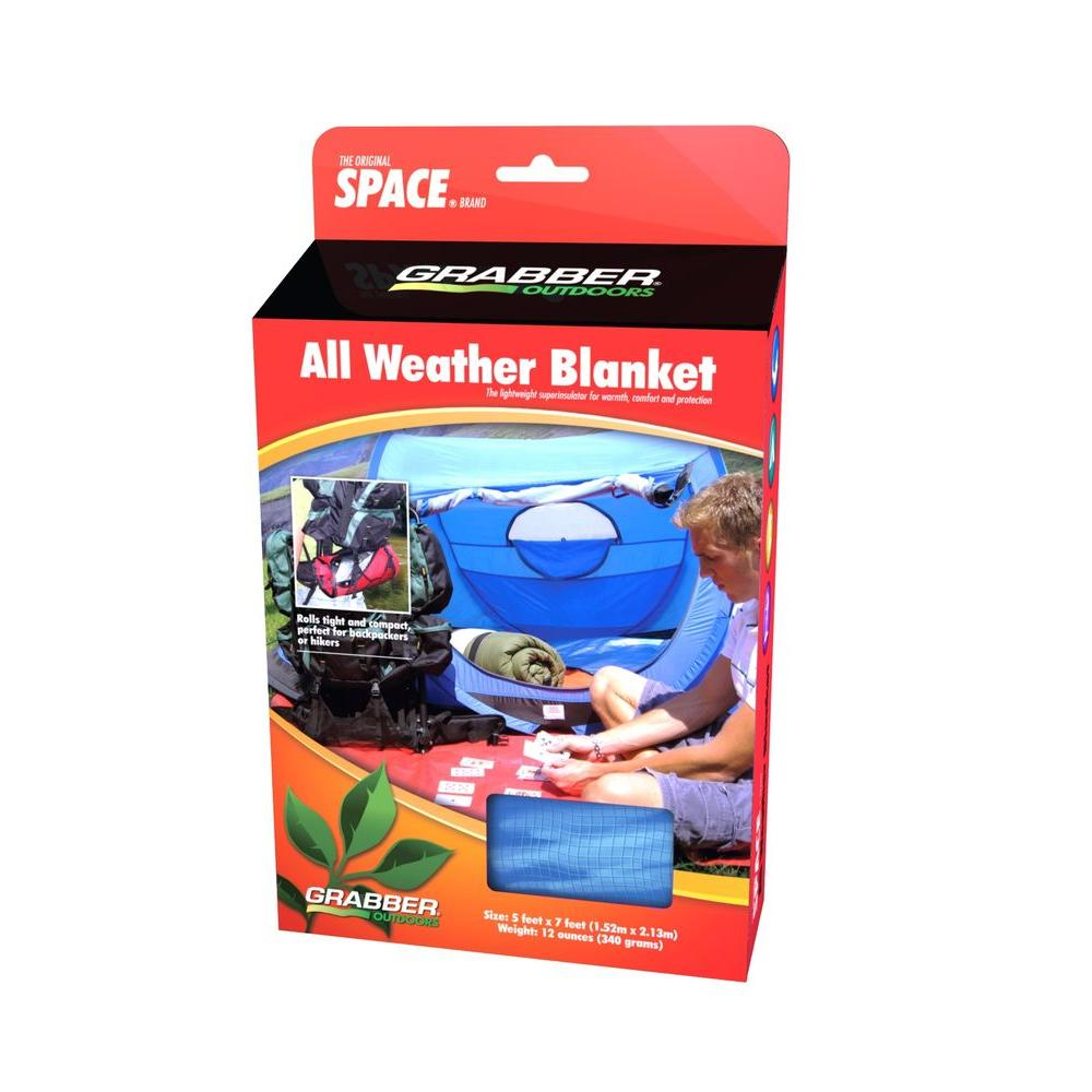 Grabber Emergency All Weather Blanket - Blue