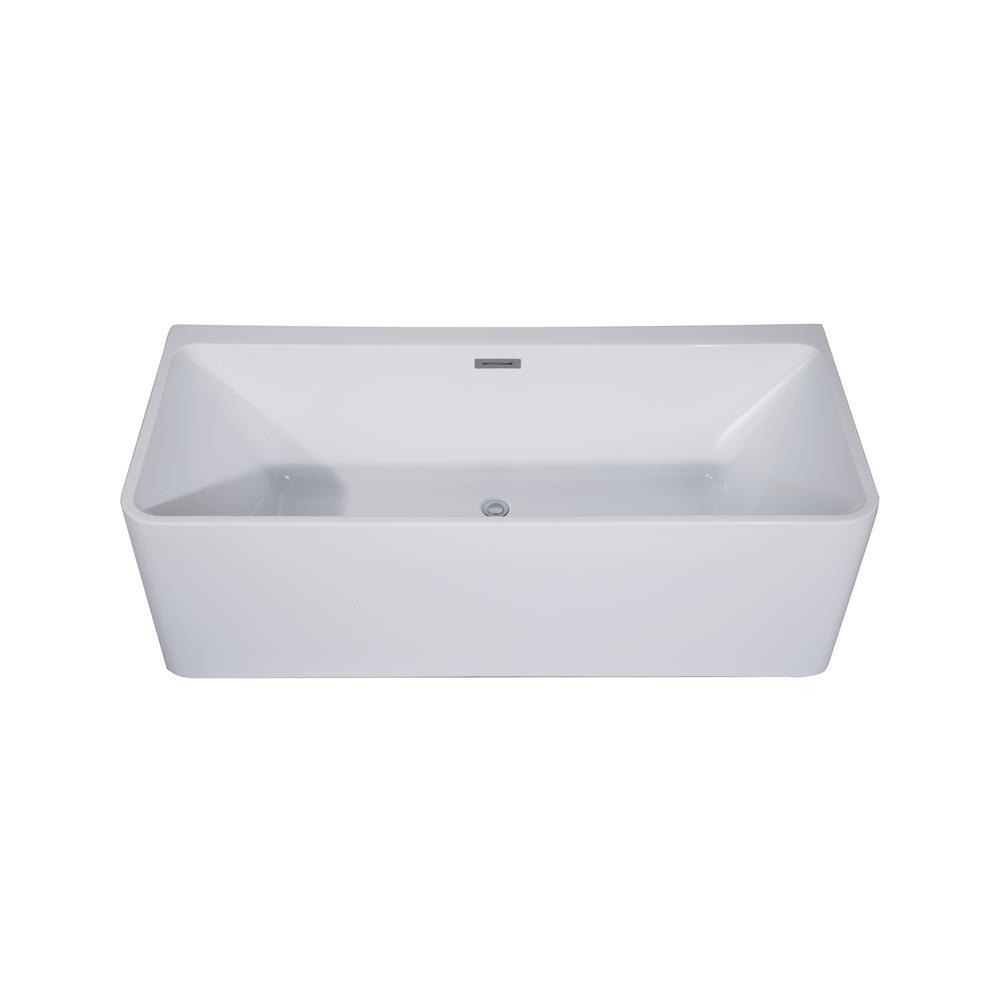 Treviso 5.5 ft. Acrylic Slipper Flatbottom Non-Whirlpool Bathtub in White
