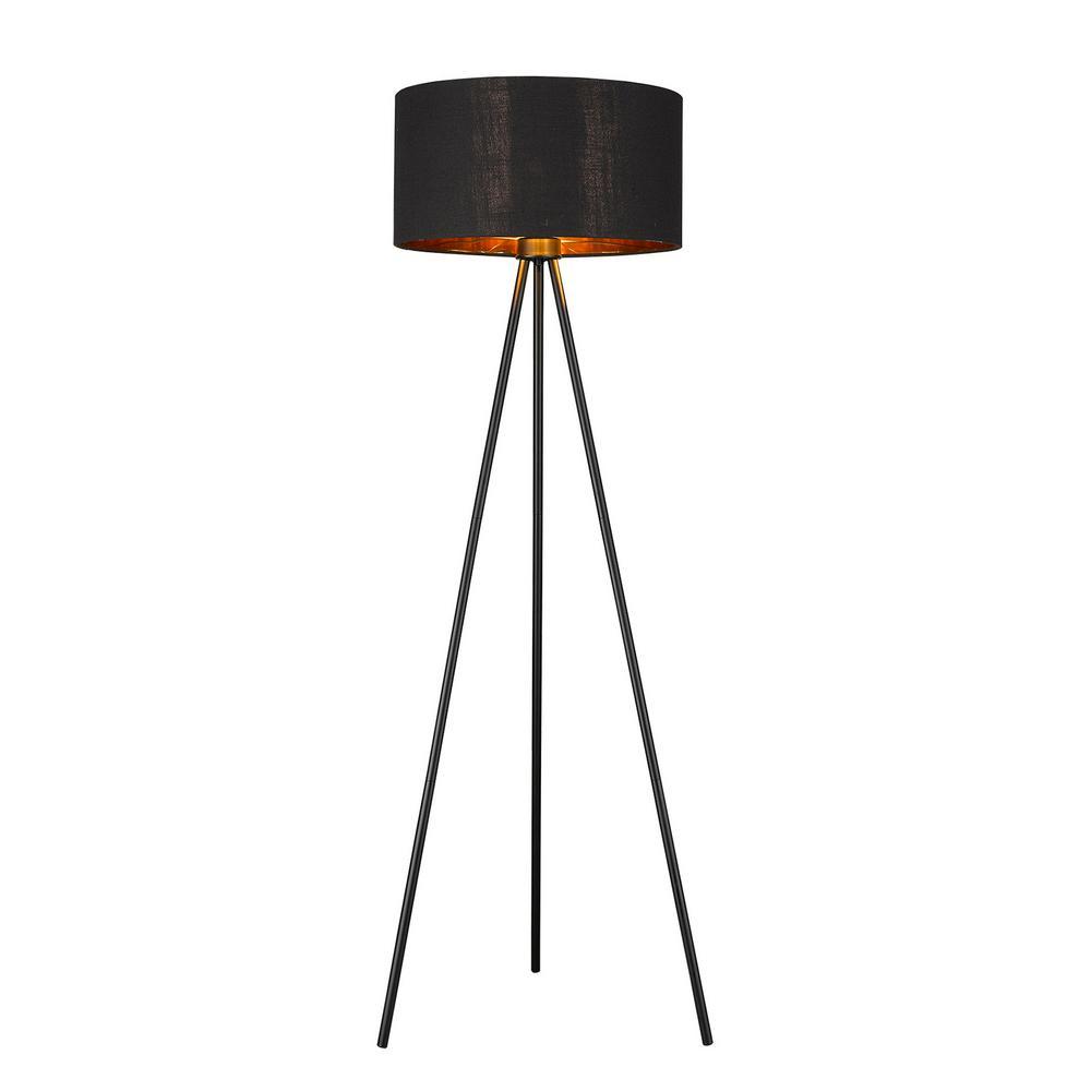 Morenci 1-Light Matte Black Floor Lamp