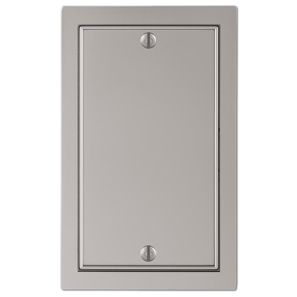 AMERELLE Averly 1 Gang Blank Metal Wall Plate - Satin Nickel