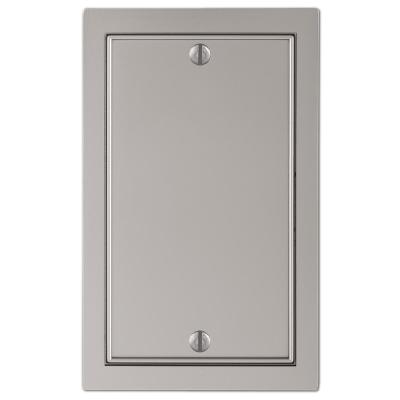 Averly 1 Gang Blank Metal Wall Plate - Satin Nickel