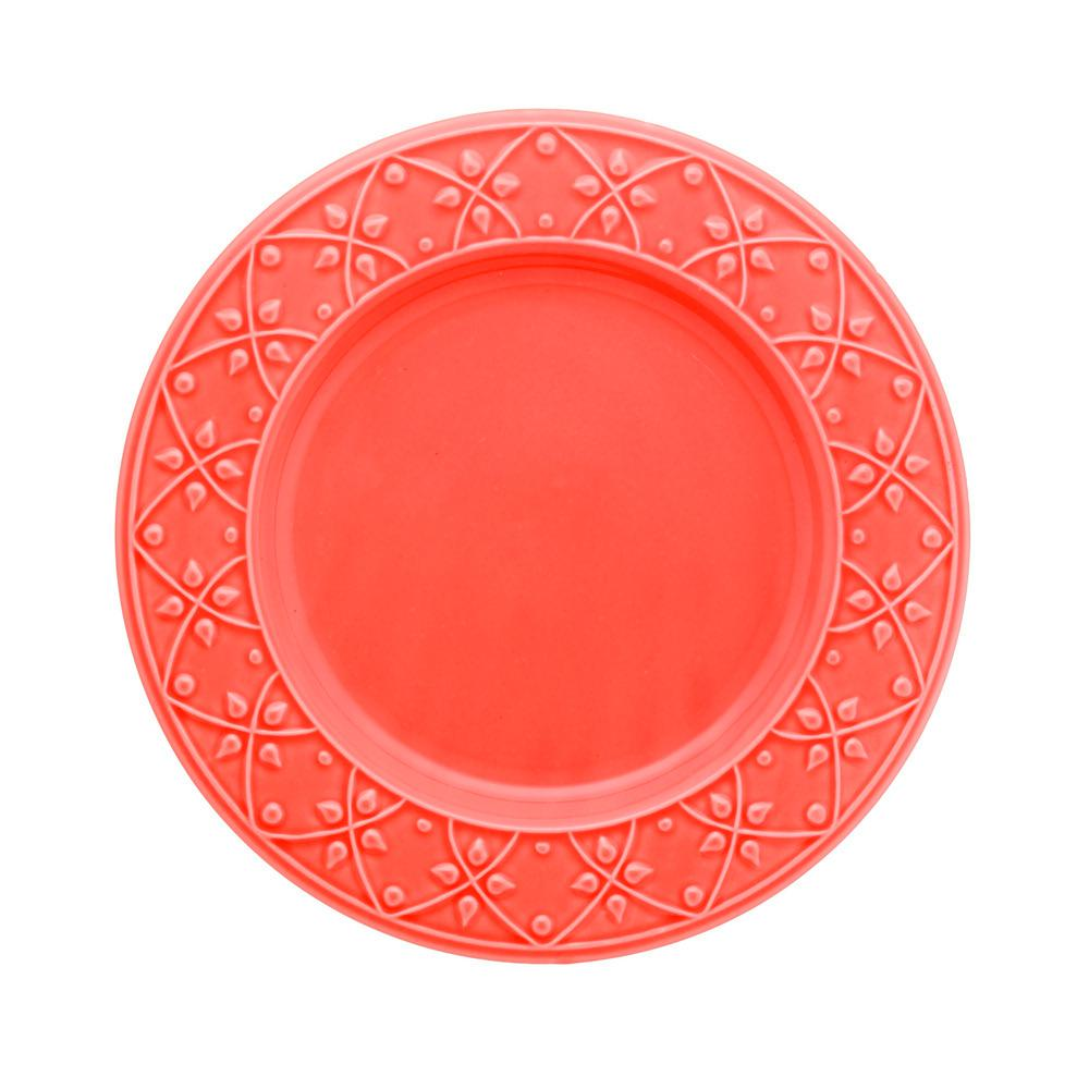 Manhattan Comfort 10.43 in. Mendi Coral Dinner Plates (Set of 12), Pink was $169.99 now $92.93 (45.0% off)