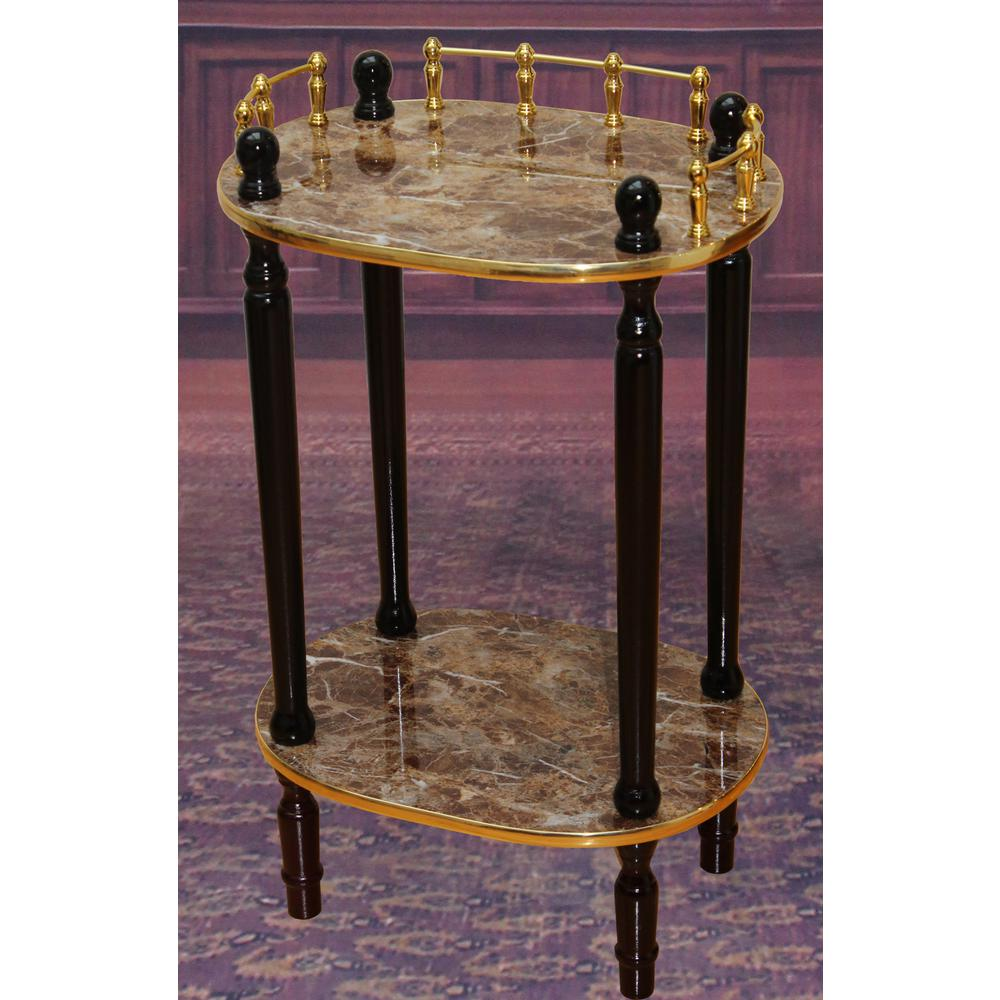 Uniquewise Gold Marble End Table Qi003134m The Home Depot