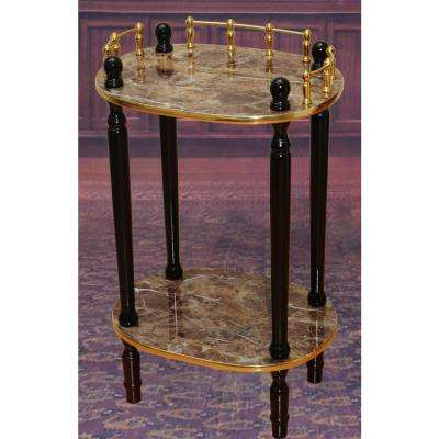 Gold Marble End Table