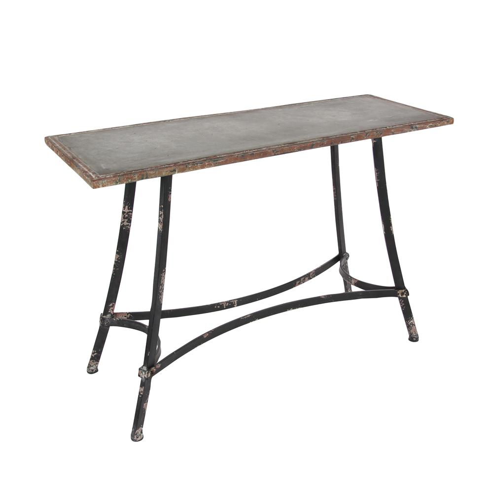 Null Industrial Arts Distressed Brown Console Table
