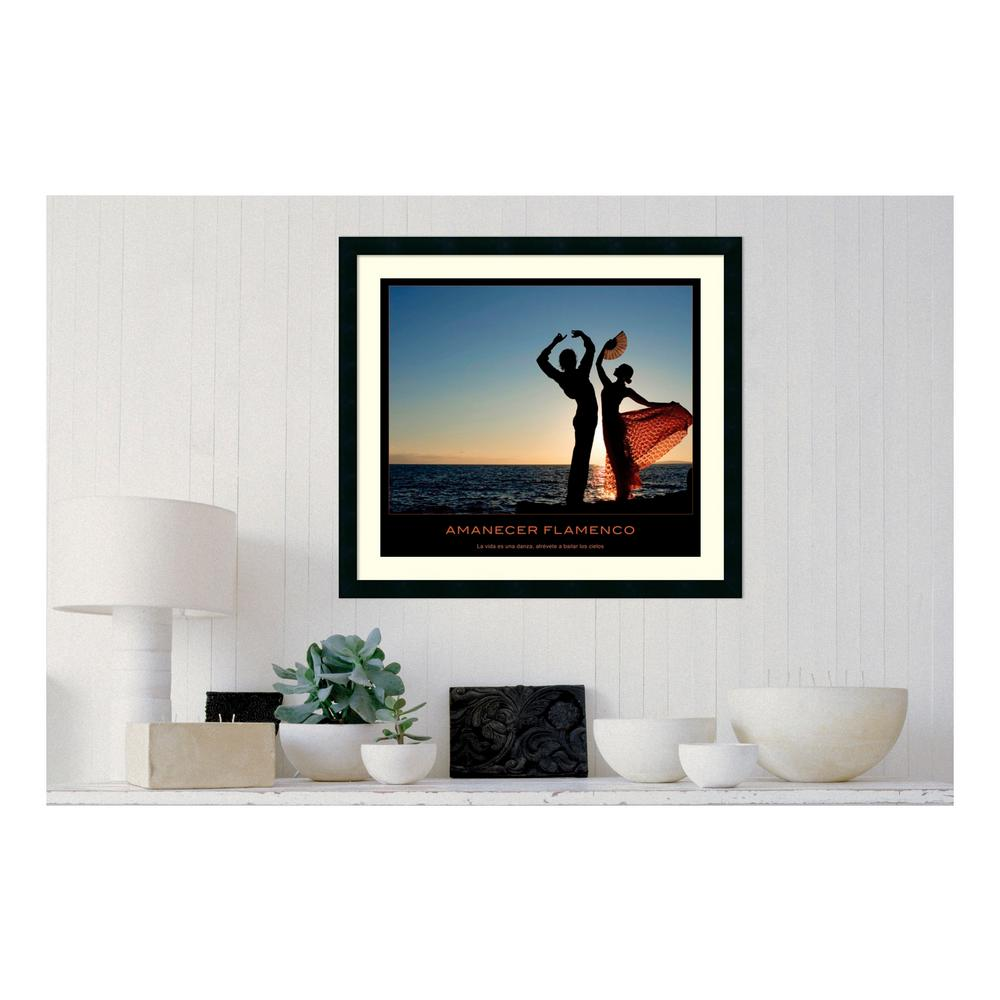 30.25 in. W x 27.13 in. H Amanecer flamenco' Printed Framed