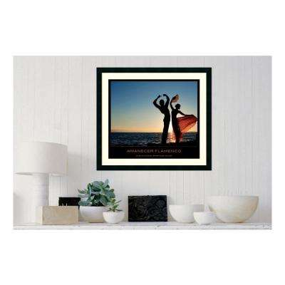 30.25 in. W x 27.13 in. H Amanecer flamenco' Printed Framed Wall Art