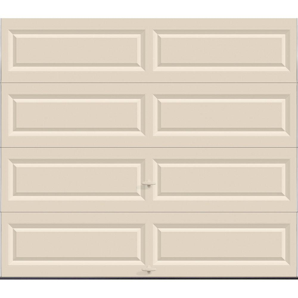 Classic Collection 8 ft. x 7 ft. Non-Insulated Solid Almond Garage