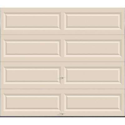 Classic Collection 8 ft. x 7 ft. Non-Insulated Solid Almond Garage Door