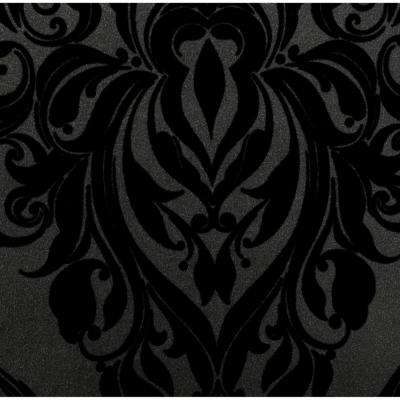 Black wallpaper decor the home depot kinky vintage black removable wallpaper voltagebd