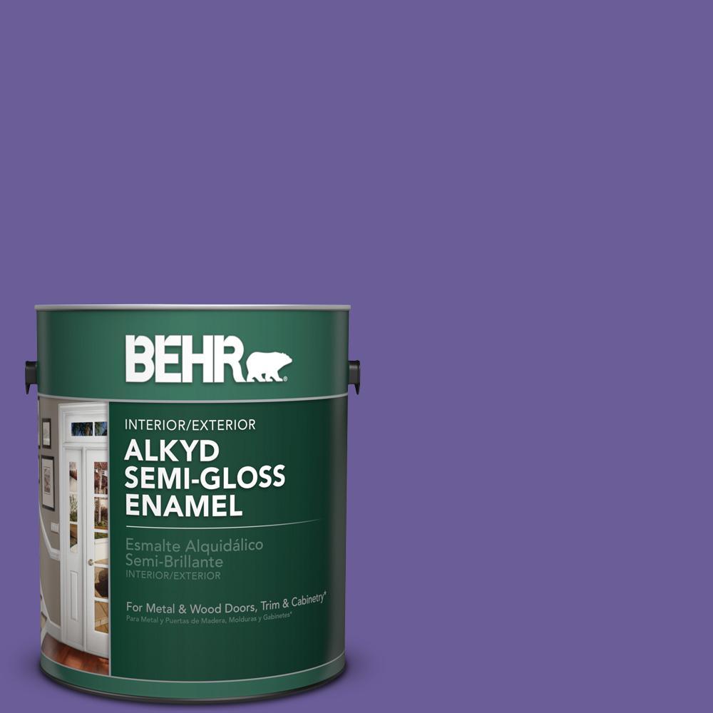 1 gal. #P560-6 Just a Fairytale Semi-Gloss Enamel Alkyd Interior/Exterior Paint