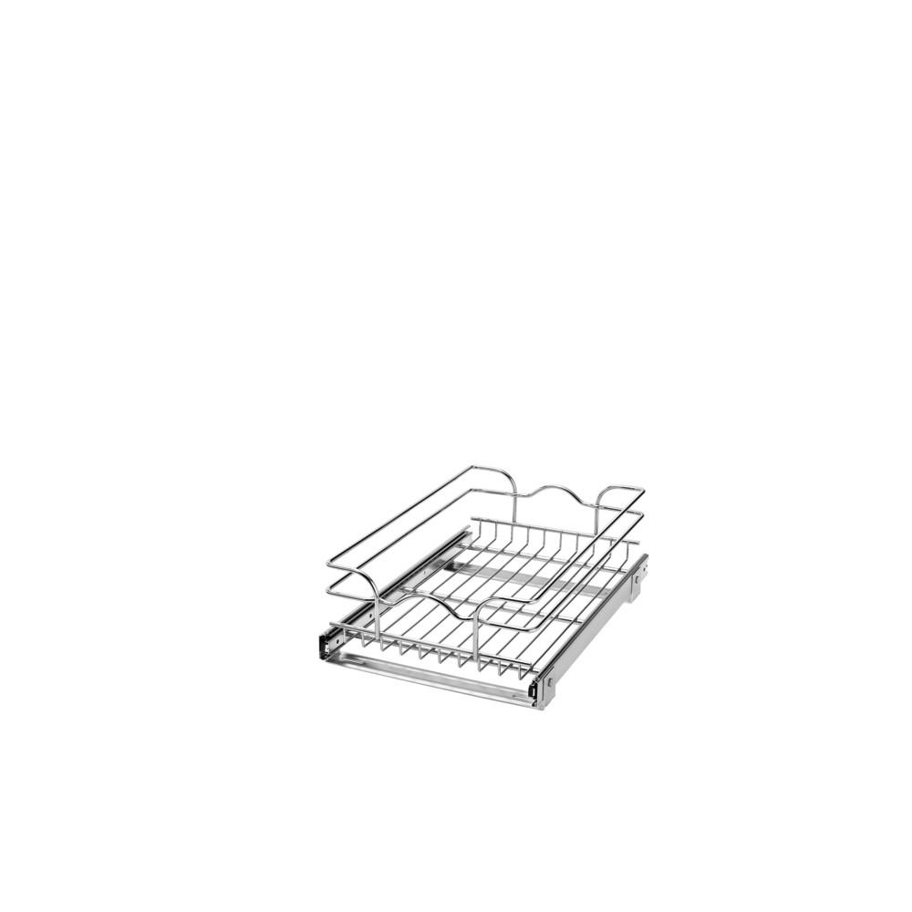 Rev A Shelf 7 In H X 1175 W 18 D Base Cabinet Pull Out Chrome Wire Basket