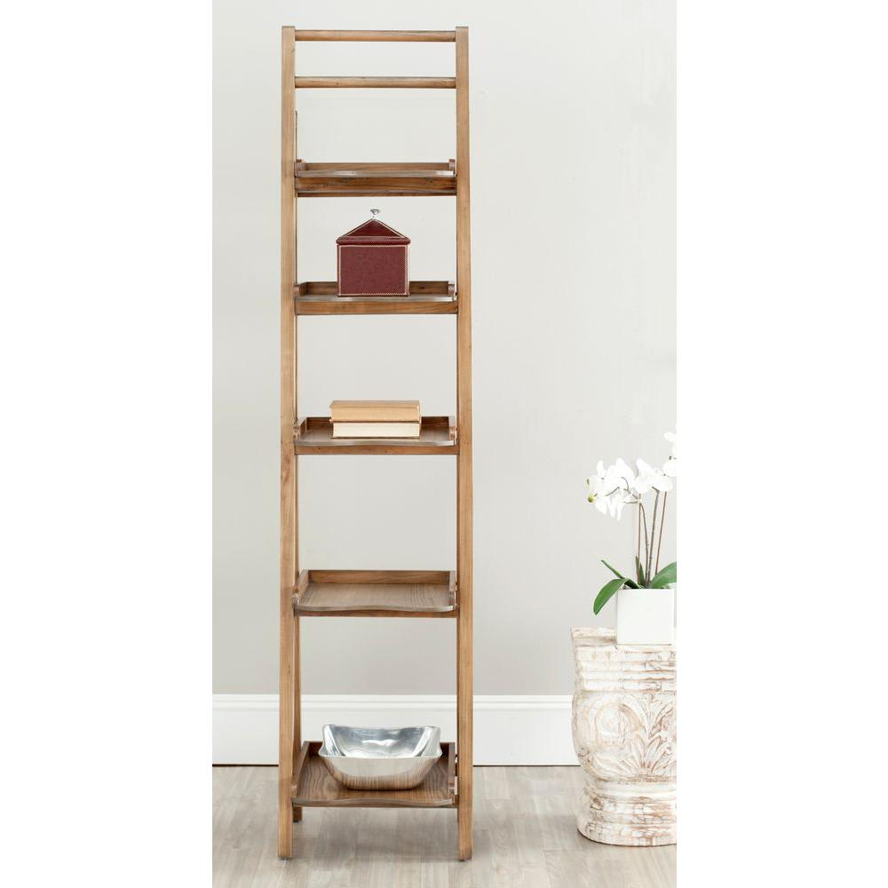 Safavieh Asher Oak Ladder Bookcase