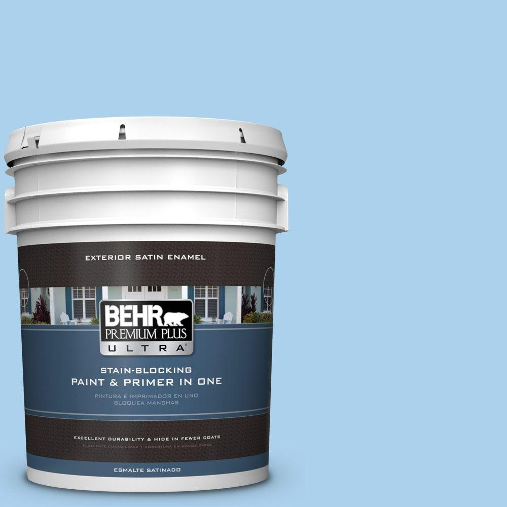 BEHR Premium Plus Ultra 5-gal. #560A-3 Utah Sky Satin Enamel Exterior Paint