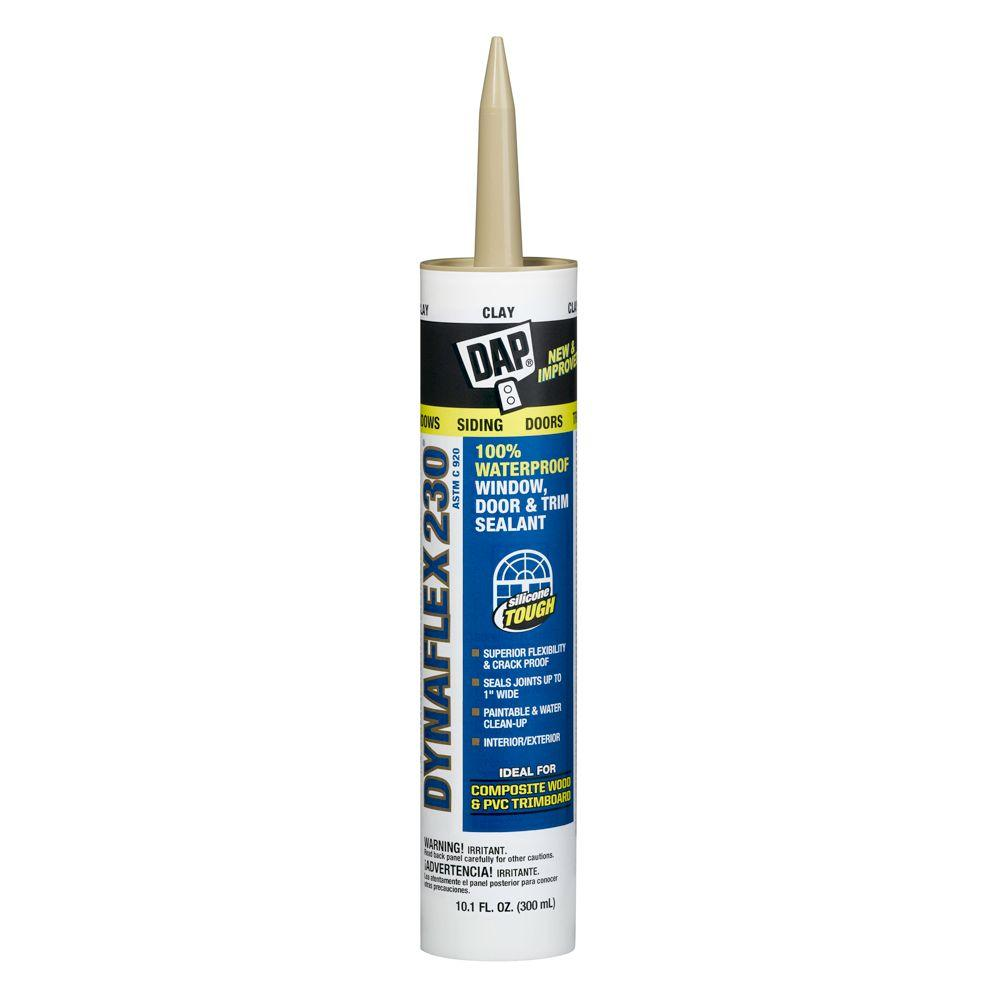 dap dynaflex 230 10 1 oz clay 100 waterproof window door and trim