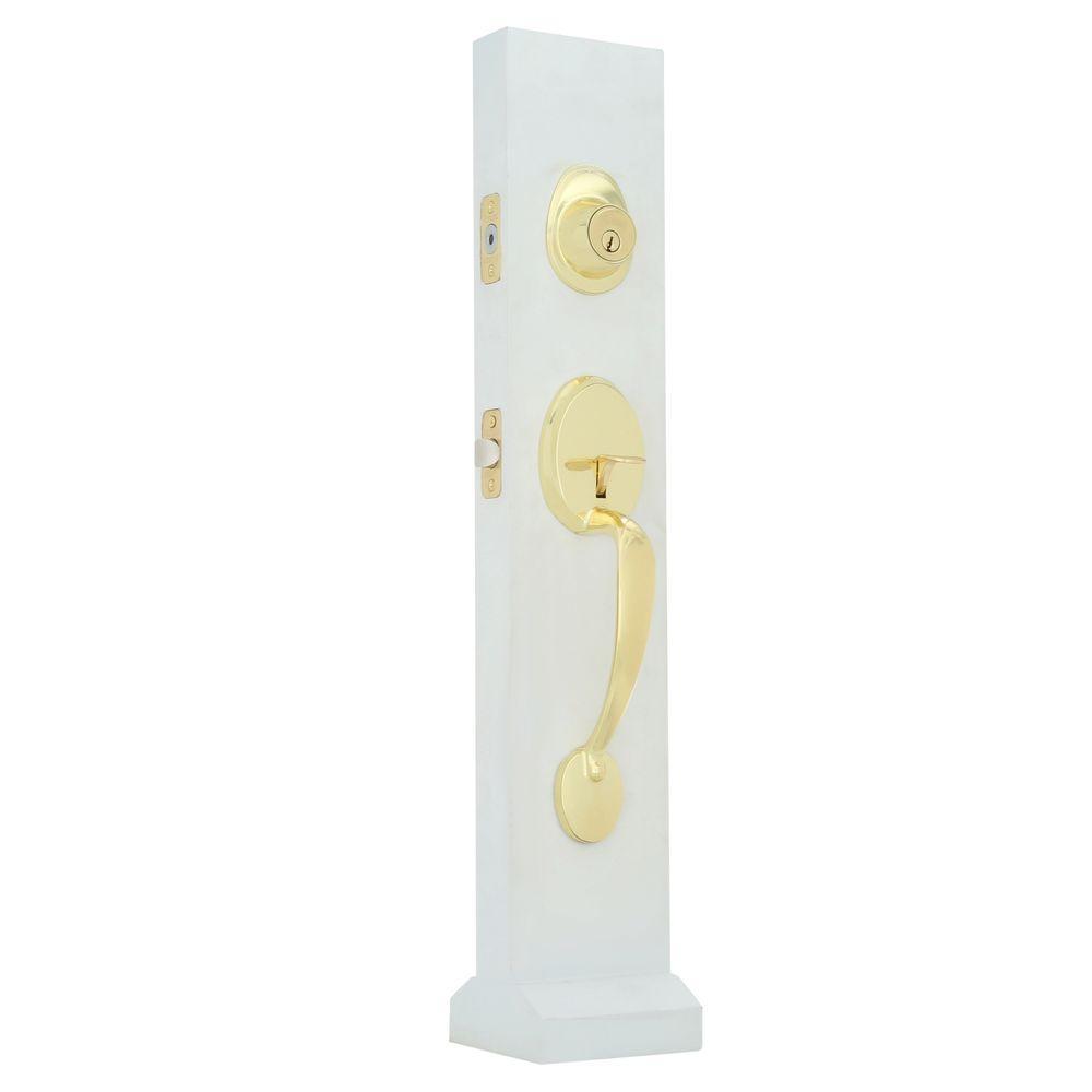 Faultless Lexington Door Handleset with Ball in Polished Brass