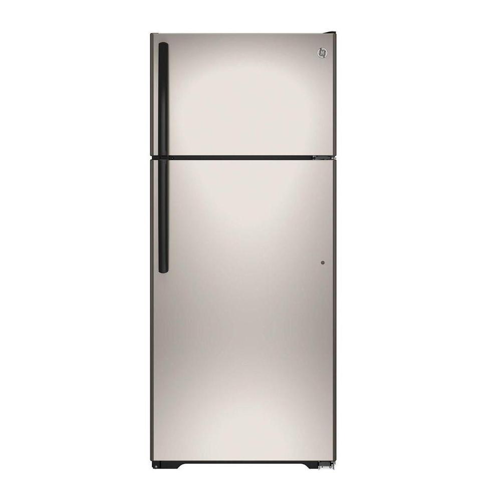 refrigerator 7 5 cu ft. ge 17.5 cu. ft. top freezer refrigerator in silver 7 5 cu ft