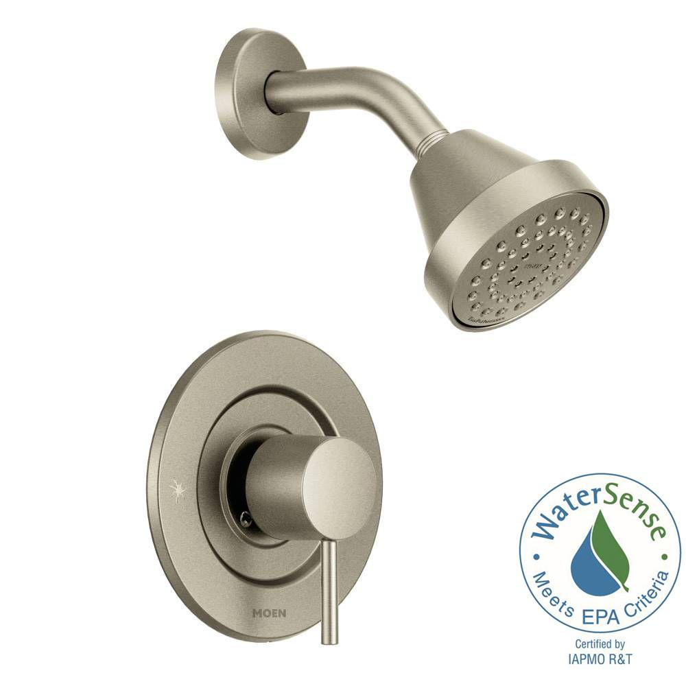 Align Single-Handle Posi-Temp Shower Faucet Trim Kit in Brushed Nickel (Valve