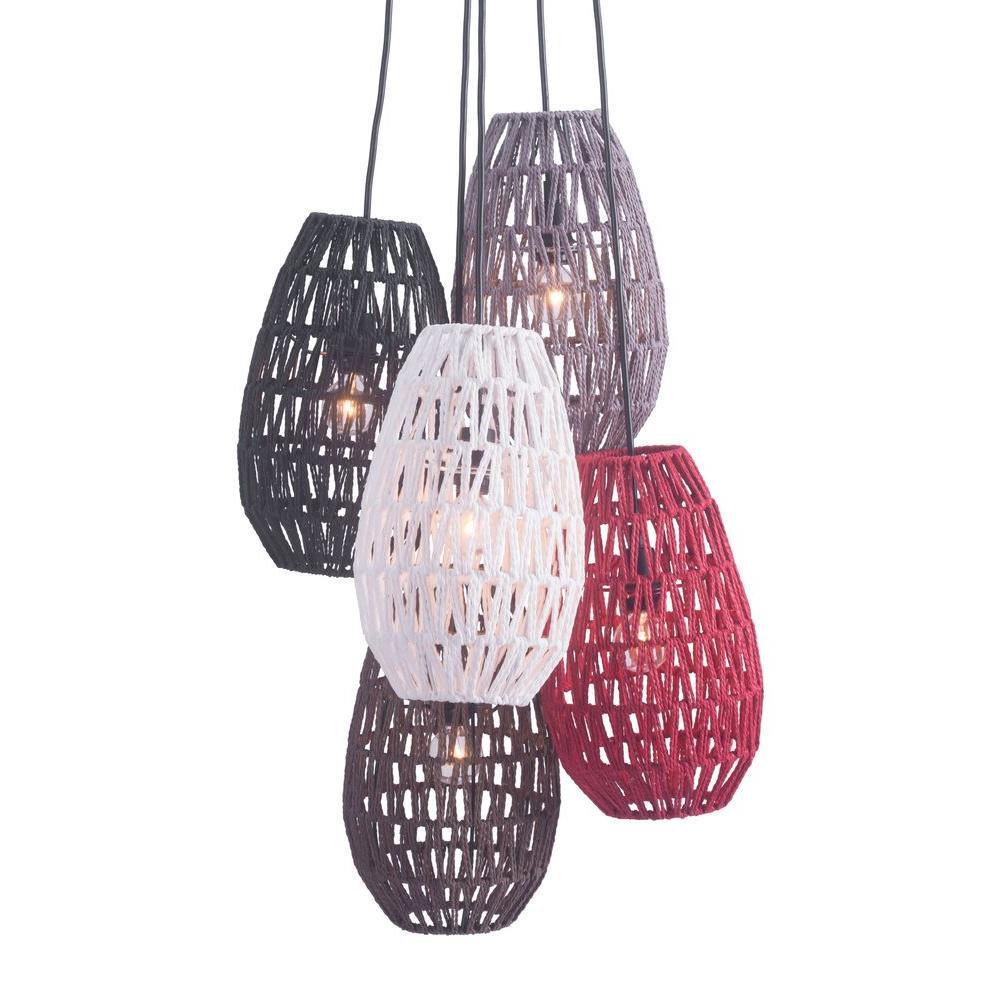 Utopia 5-Light Multi Color Ceiling Lamp