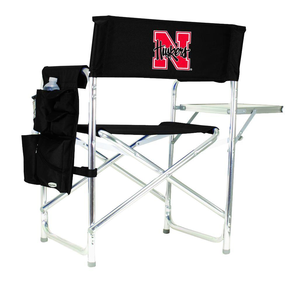 University of Nebraska Black Sports Chair with Digital Logo