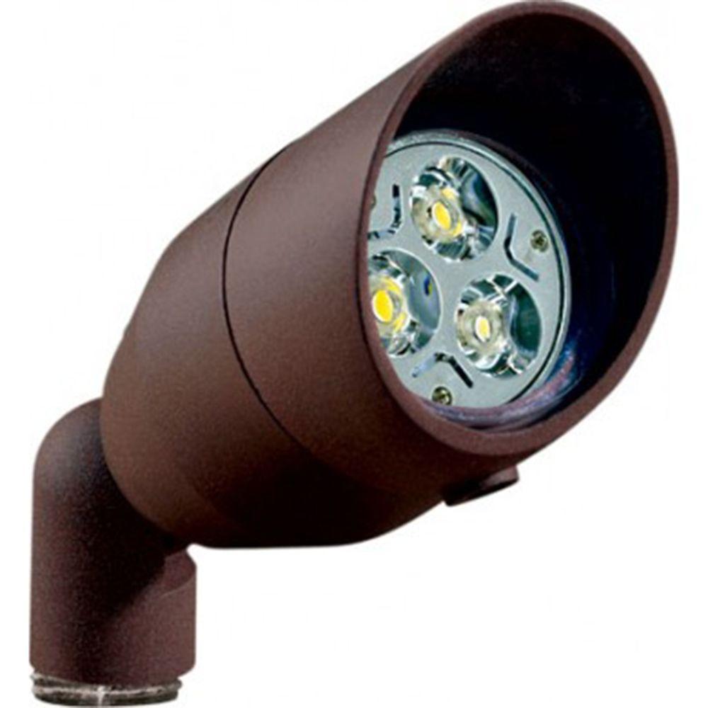 Skive 3-Light Bronze Outdoor LED Spot Light