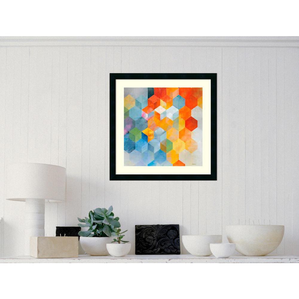 """24 in. H x 24 in. W """"Cubitz I"""" by Noah Framed Art Print"""
