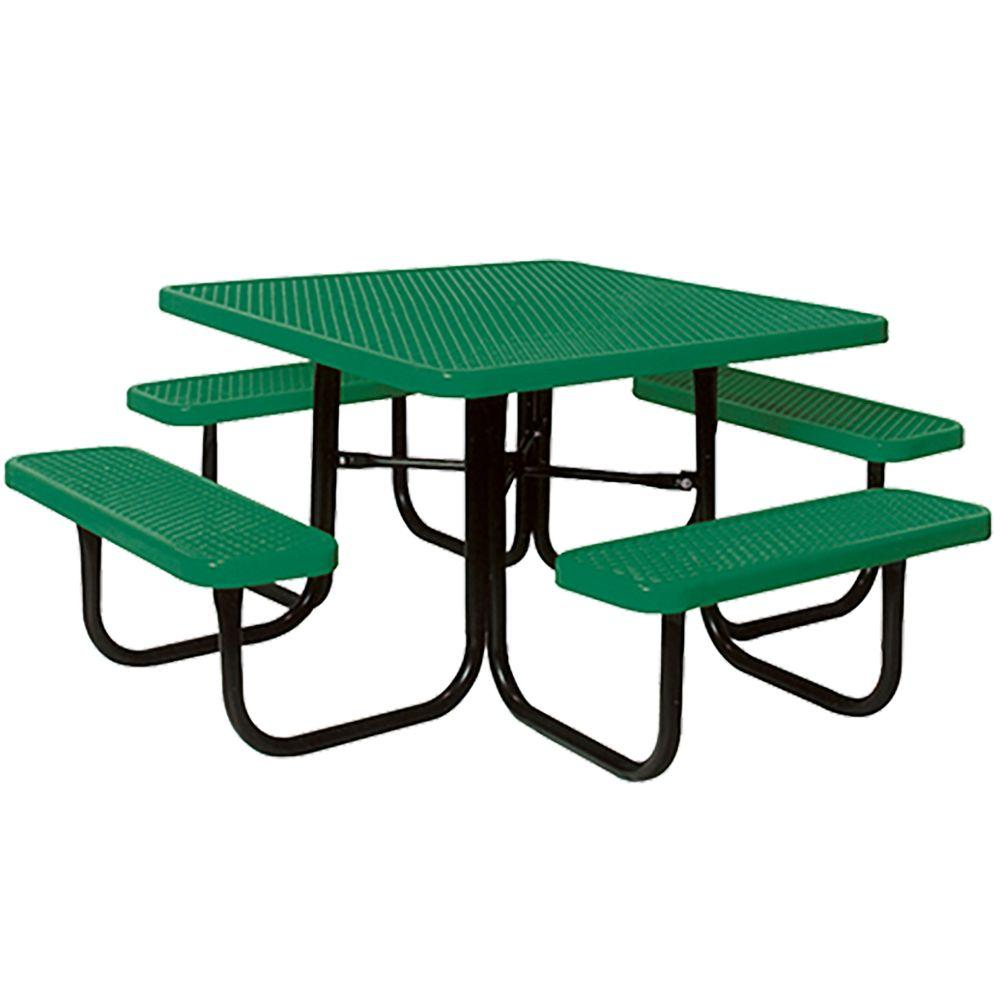 Portable Green Diamond Commercial Park Square Picnic Table