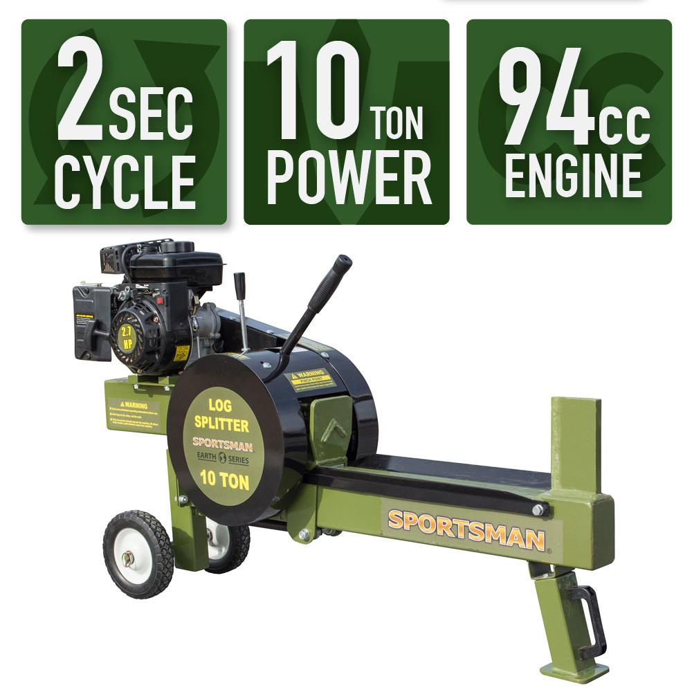 Sportsman Earth Series 10-Ton 94cc Gas Kinetic Log Splitter